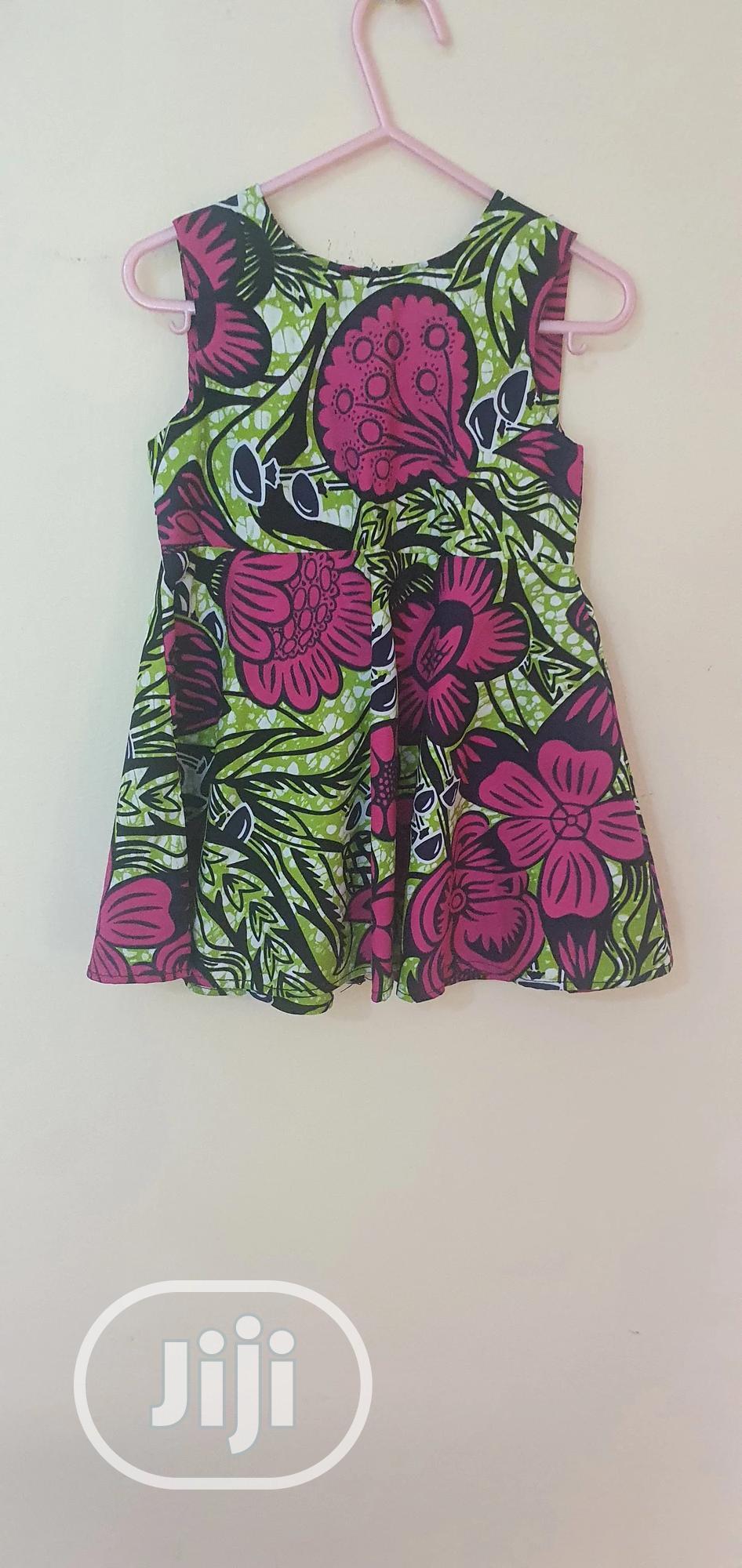 Girls' Sleeveless Floral Ankara Dress