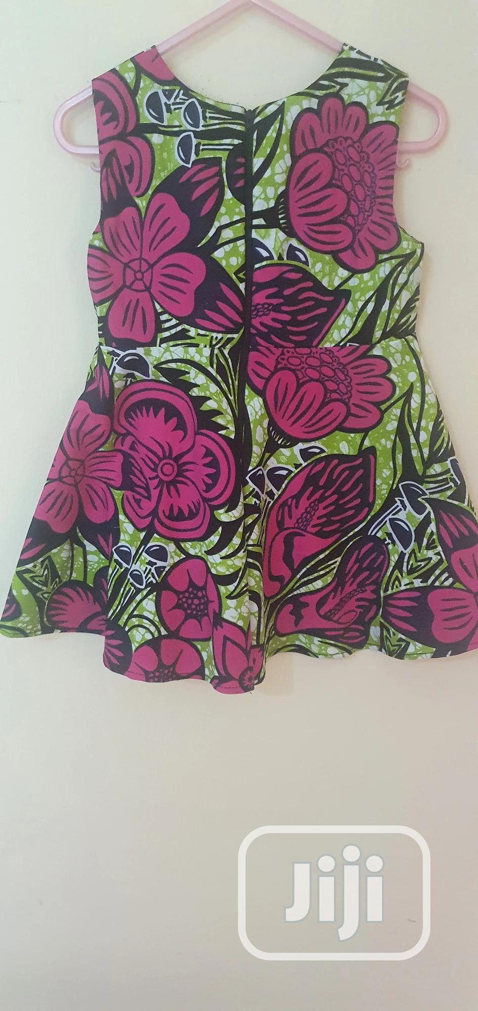 Girls' Sleeveless Floral Ankara Dress   Children's Clothing for sale in Lekki, Lagos State, Nigeria