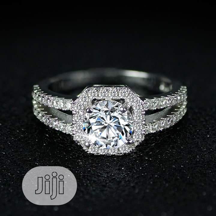 Exotic Ladies Engagement / Proposal Silver Ring 002