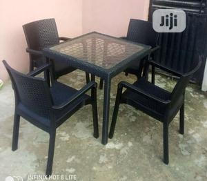 Super Quality Set of Outdoors Dinning Table With 4 Chairs   Furniture for sale in Abuja (FCT) State, Jabi