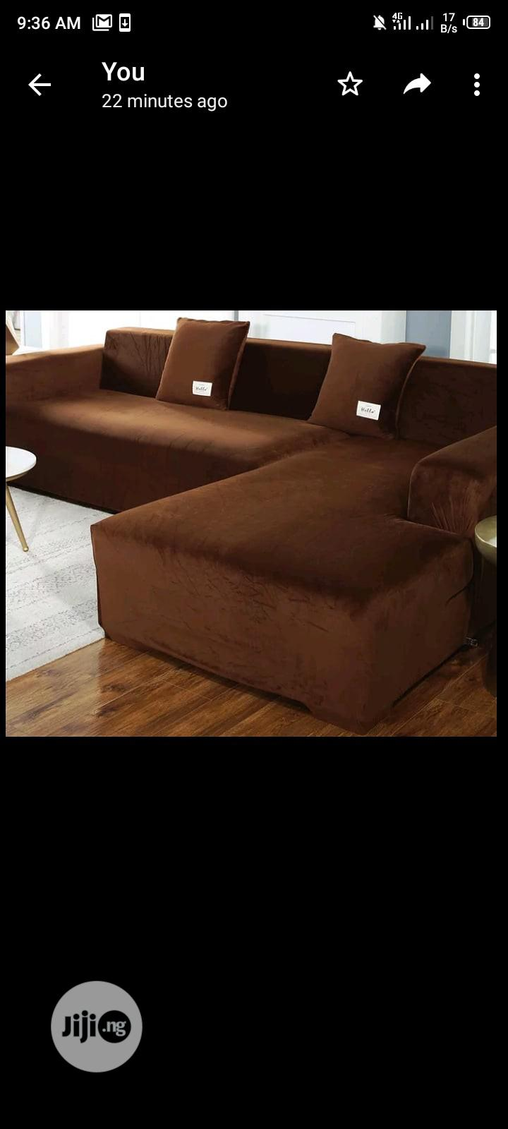 Velvety Sofa Covers | Home Accessories for sale in Surulere, Lagos State, Nigeria