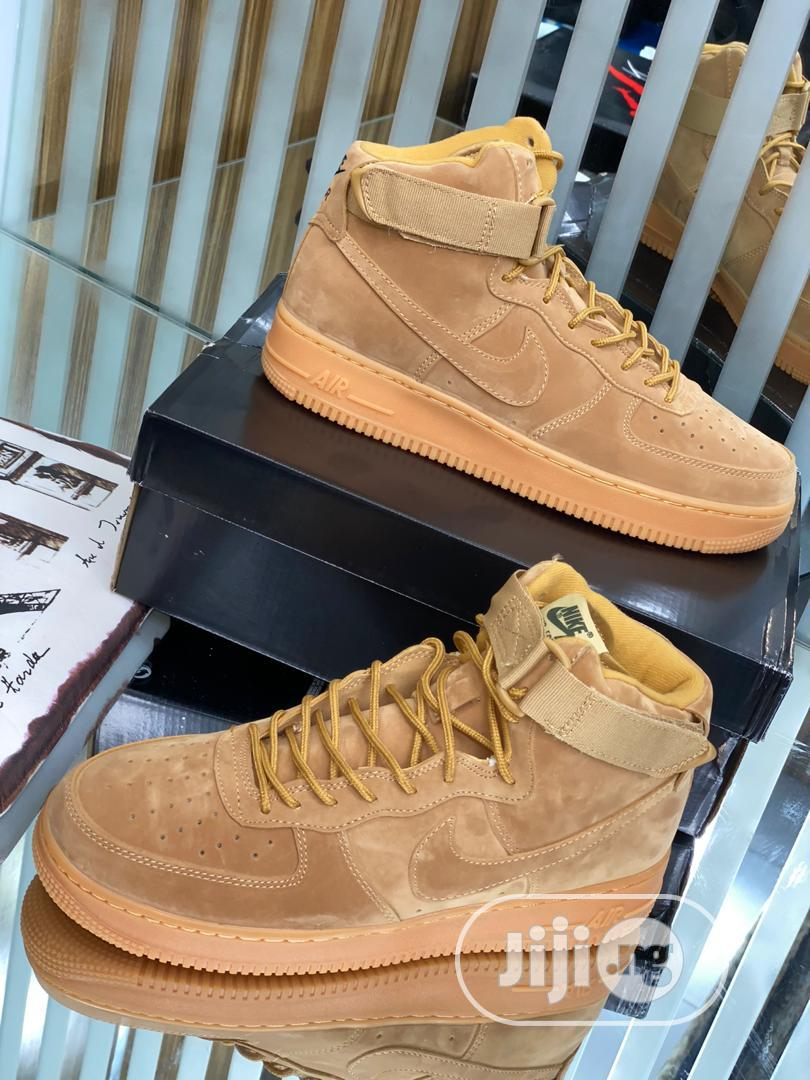 Nike Airforce 1 High Brown Original   Shoes for sale in Surulere, Lagos State, Nigeria