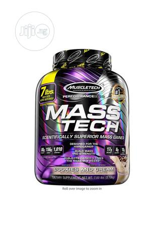 Mass Tech Mass Gainer Protein Powder Cookies & Cream,7lbs | Vitamins & Supplements for sale in Lagos State, Ikoyi