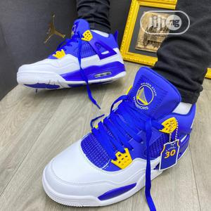 Air Jordan 4 Retro Blue White | Shoes for sale in Lagos State, Alimosho