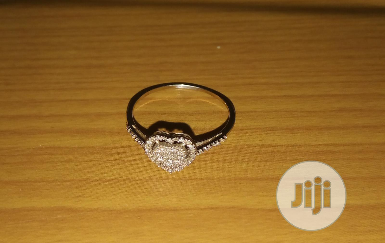 Archive: Beautiful Silver Ring With Diamond Stones