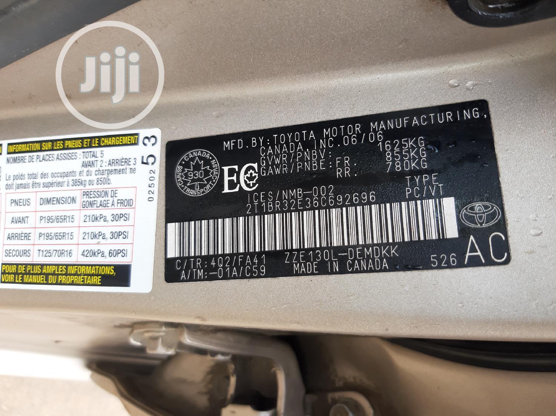 Archive: Toyota Corolla 2006 CE Gold