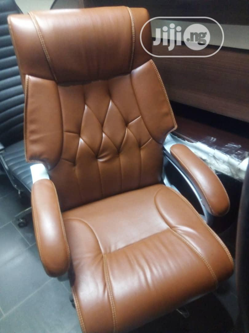 Archive: Brown Leather Office Chair