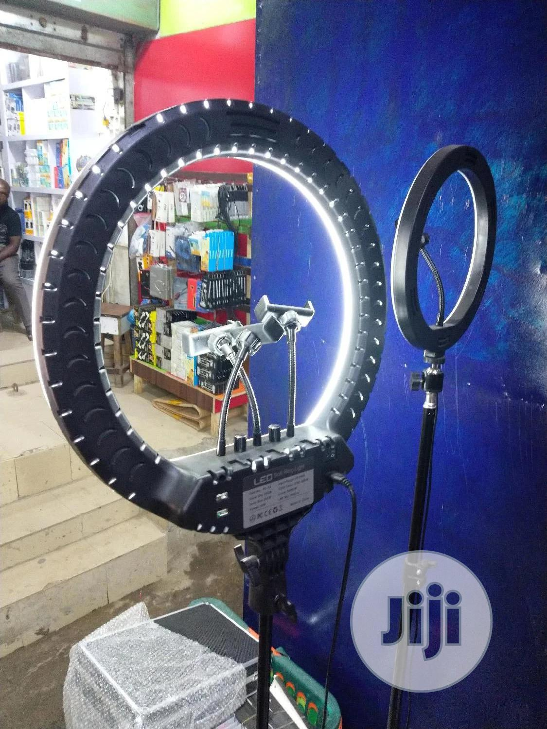 18inchs Ring Light With 3 Phone Holder And Tripod | Accessories & Supplies for Electronics for sale in Ojo, Lagos State, Nigeria