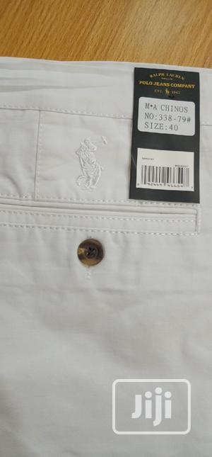 Ralph Lauren Chinos Trousers White Color Original | Clothing for sale in Lagos State, Surulere