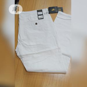 Ralph Lauren Chinos Trousers White Color Original Quality | Clothing for sale in Lagos State, Surulere