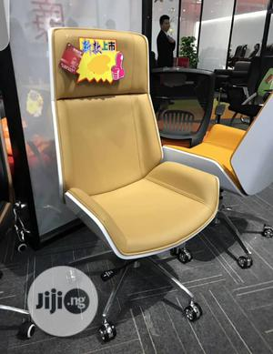 Light Yellow And White Back Executive Chair | Furniture for sale in Lagos State, Victoria Island