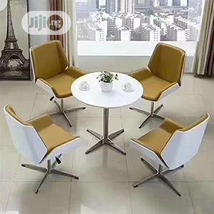 Brown and White Adjustable Height Visitors /Lounge Chair | Furniture for sale in Lagos State, Lekki