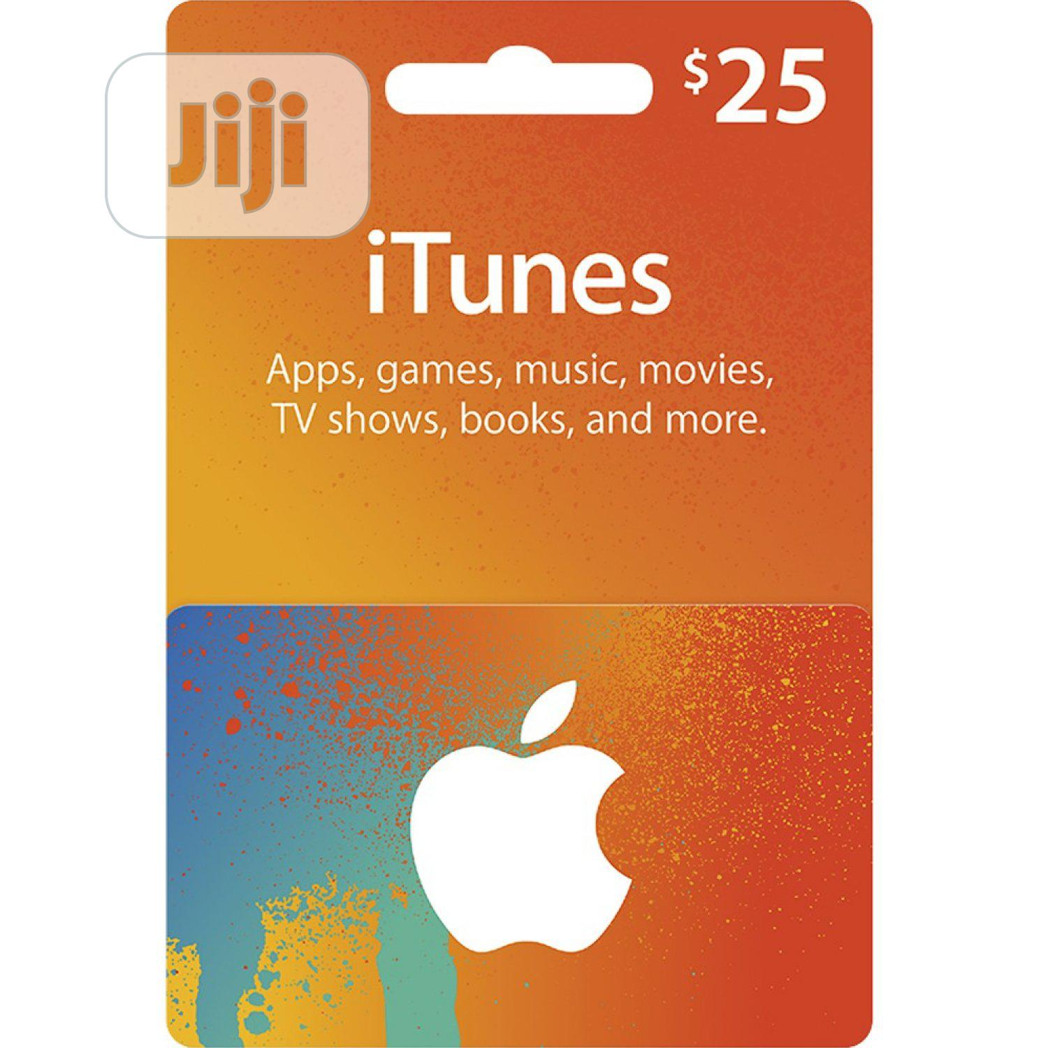 iTunes Gift Card (USA) - $25 | Accessories & Supplies for Electronics for sale in Ojodu, Lagos State, Nigeria