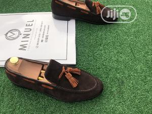 Coffee Brown Suede Loafers Witg Golden Brown Tassle   Shoes for sale in Lagos State, Mushin
