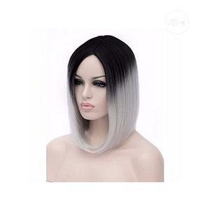Grey Black Bob Fringe Wig | Hair Beauty for sale in Lagos State, Ikoyi