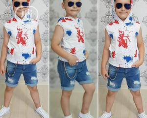 Armless Hoodies Short Jeans   Children's Clothing for sale in Lagos State, Amuwo-Odofin