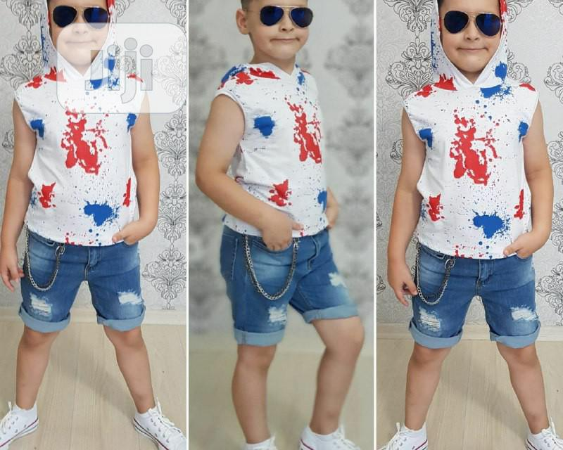 Armless Hoodies Short Jeans