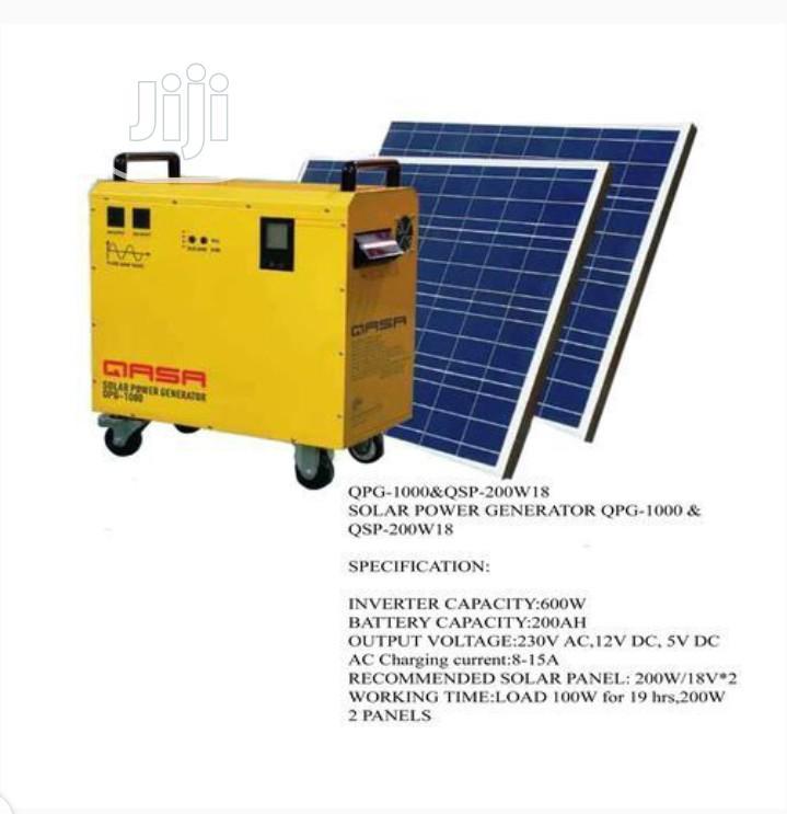 Archive: Qasa Solar Power Generator QPS-1000 And Qsp-200w18v
