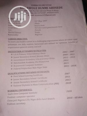Advertising & Marketing CV | Advertising & Marketing CVs for sale in Abuja (FCT) State, Jikwoyi
