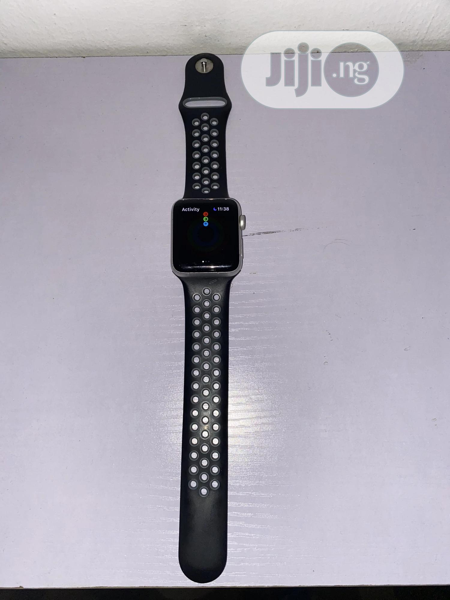 Apple Iwatch Series 3 42mm- Black. | Smart Watches & Trackers for sale in Ikeja, Lagos State, Nigeria