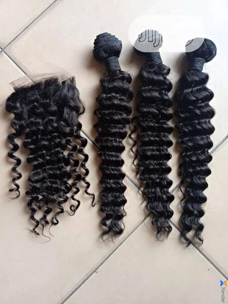 100% Human Hair Deep Wave Wig