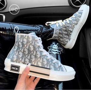 White And Black High-top Sneakers | Shoes for sale in Lagos State, Lekki