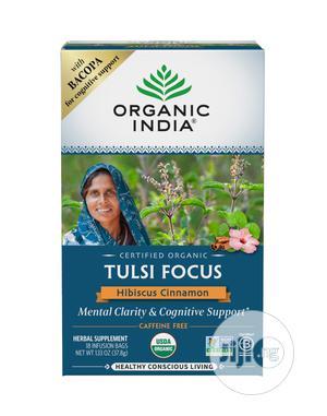 Organic India Tulsi Focus Hibiscus Cinnamon Tea, 18 Bags   Vitamins & Supplements for sale in Lagos State, Lekki