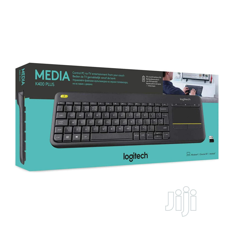 Logitech K400 Plus Wireless Keyboard and Built-In Touchpad