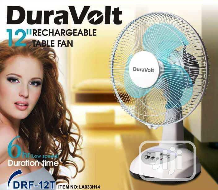 Duravolt 12 Inches Rechargeable Table Fan