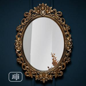 Wall Mounted Round Gold Mirror | Home Accessories for sale in Lagos State, Amuwo-Odofin