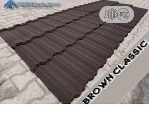 Brown Classic Docherich Stone Coated Roof And Rain Gutter | Building Materials for sale in Lagos State, Ajah