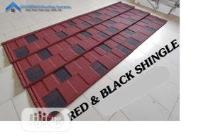 Red And Black Shingle Docherich Roofing Sheet Nd Rain Gutter | Building Materials for sale in Lagos State, Ajah
