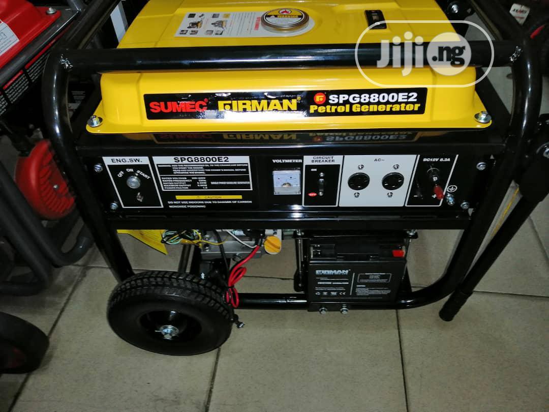 Sumec Firman Generator Model SPG8800E2 6.5kva