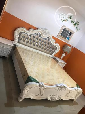 Quality Italian Royal Bed With Matrass and 2 Side Drawer | Furniture for sale in Lagos State, Lekki