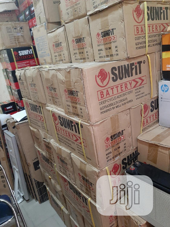 12V 200AH Sunfit Solar Battery