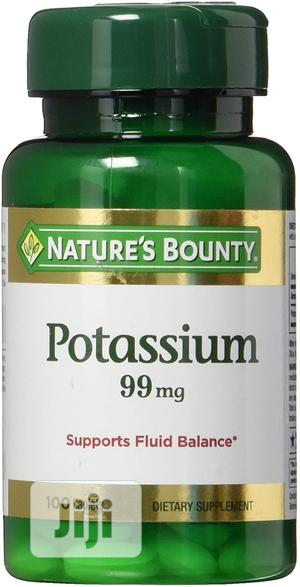 Nature's Bounty Potassium Gluconate 99mg, 100 Caplets | Vitamins & Supplements for sale in Lagos State, Amuwo-Odofin