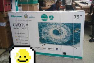 Original Hisense 75 Inches Smart Tv   TV & DVD Equipment for sale in Lagos State, Ojo