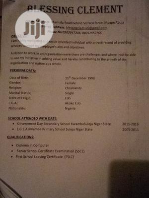 Computing & IT CV | Computing & IT CVs for sale in Abuja (FCT) State, Kubwa