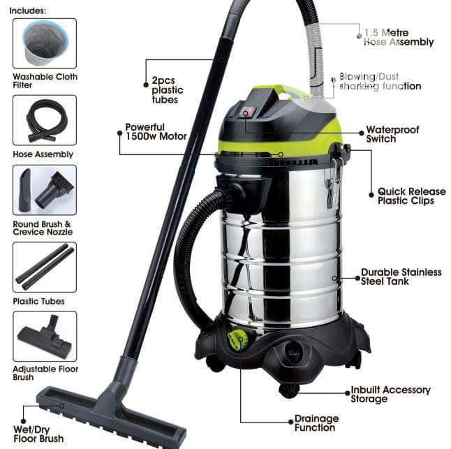 Wet and Dry Vacuum Cleaners, Different Liters E.G 20litres