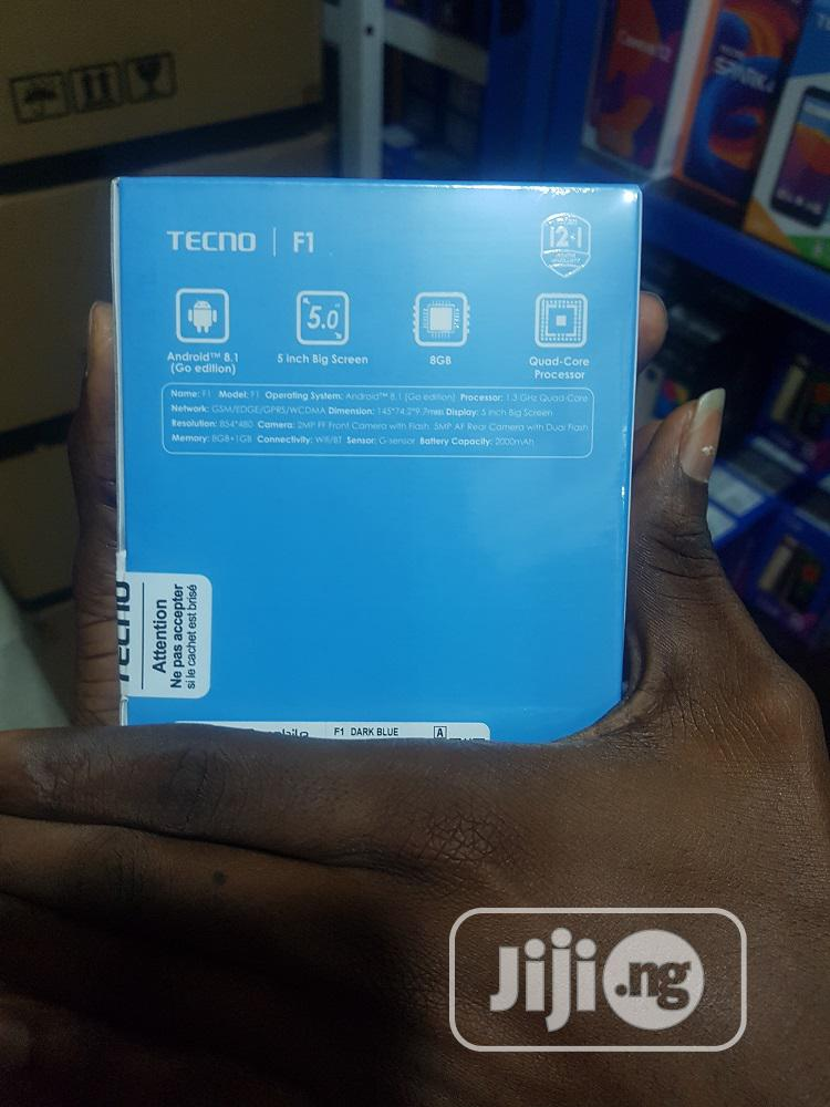 New Tecno F1 8 GB Blue   Mobile Phones for sale in Ikeja, Lagos State, Nigeria