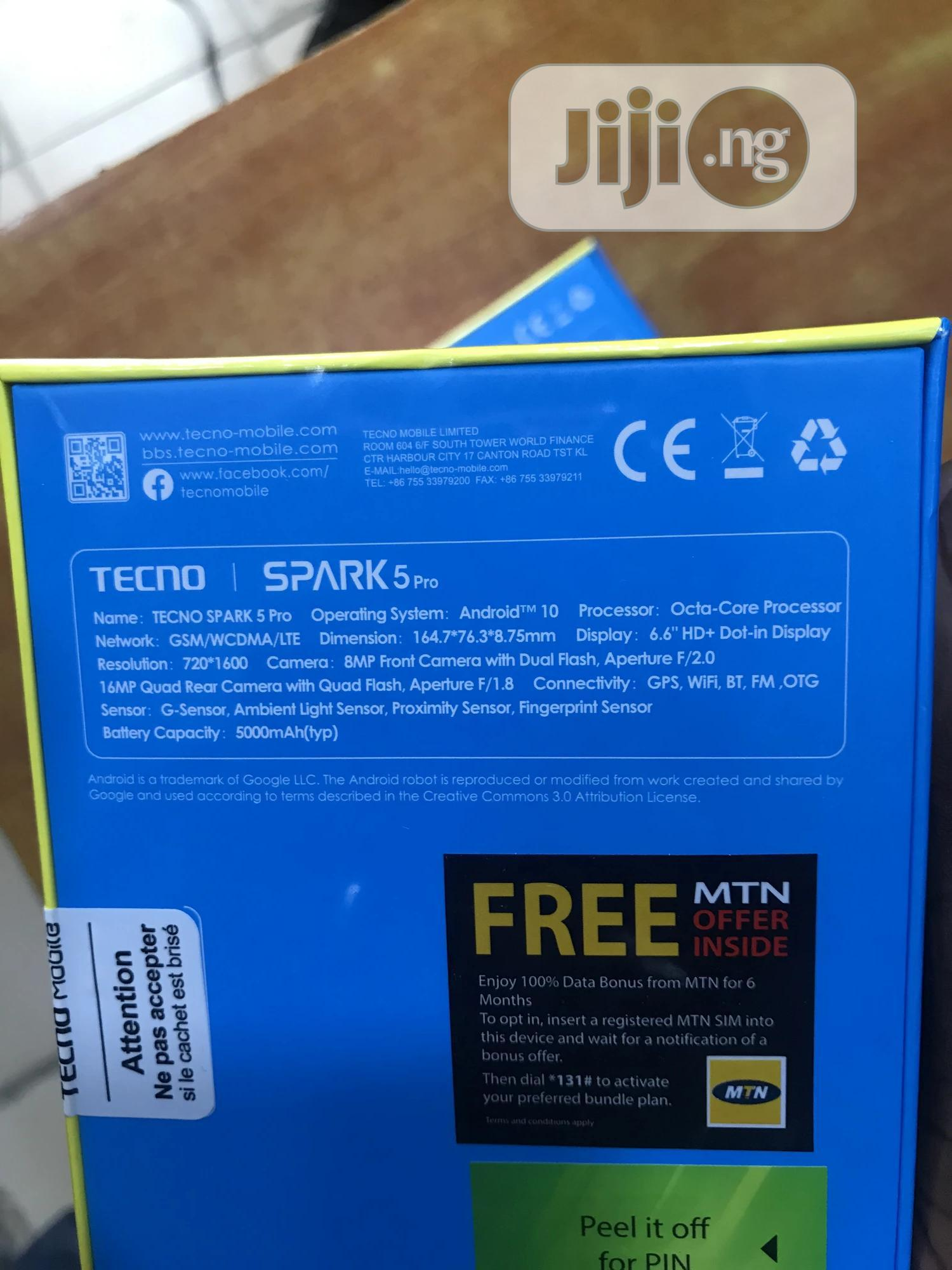 New Tecno Spark 5 Pro 64 GB Gold | Mobile Phones for sale in Ikeja, Lagos State, Nigeria