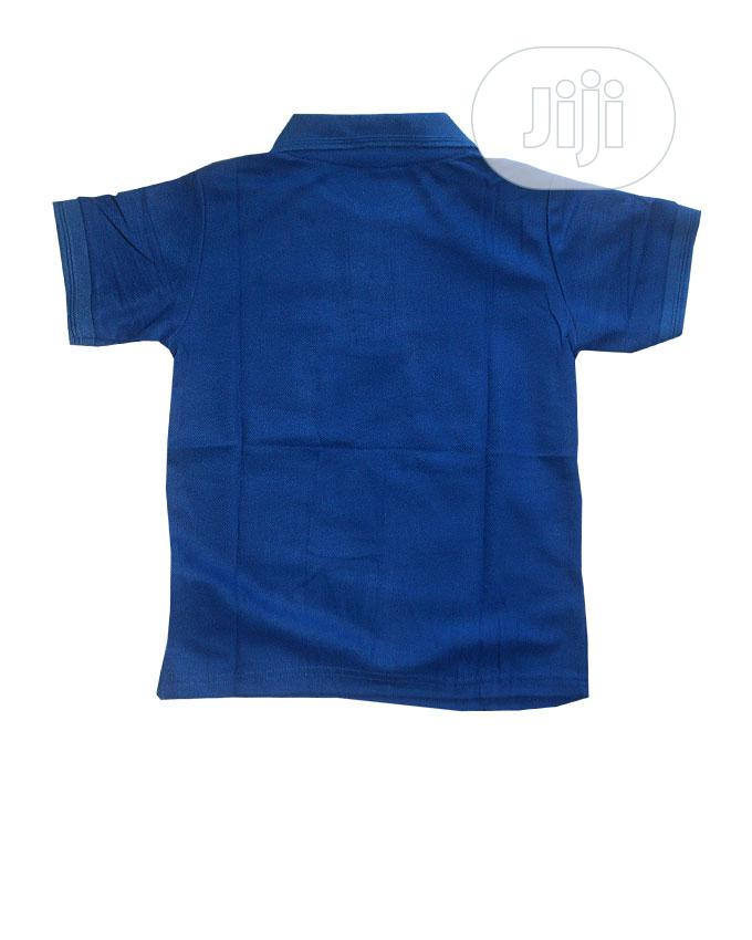 Unisex Short Sleeve Polo Style Top -Royal Blue Sky Blue | Children's Clothing for sale in Ojota, Lagos State, Nigeria