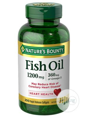 Nature's Bounty Fish Oil 1200mg (360mg Omega-3), 200 Sgels   Vitamins & Supplements for sale in Lagos State, Lekki