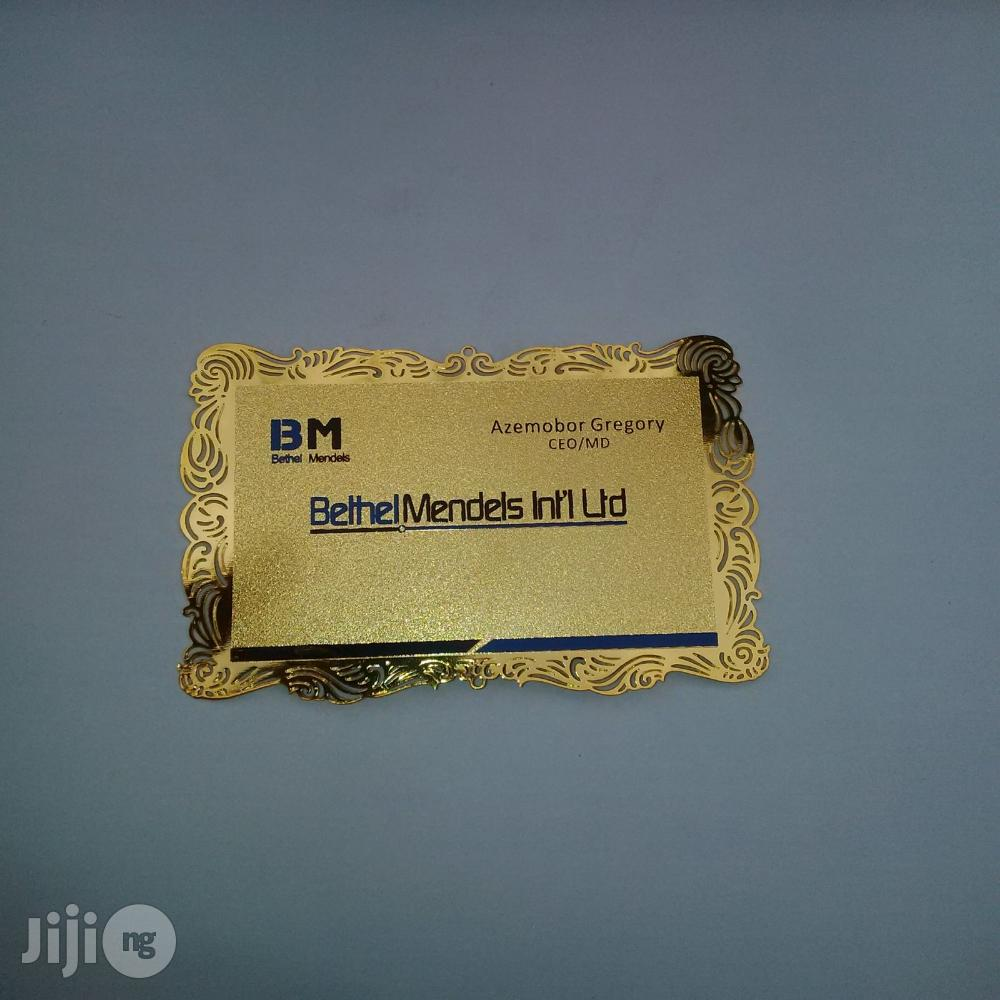 Metal Business Card (Netted Edge)