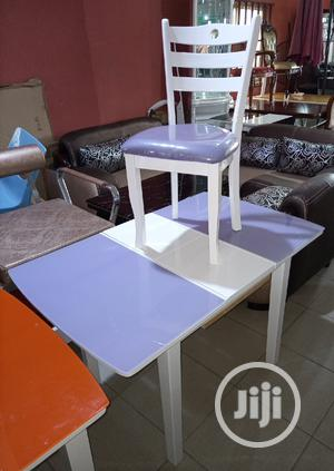 Super Quality Adjustable Wooden Dinning Table With 4 Chairs   Furniture for sale in Lagos State, Ojo