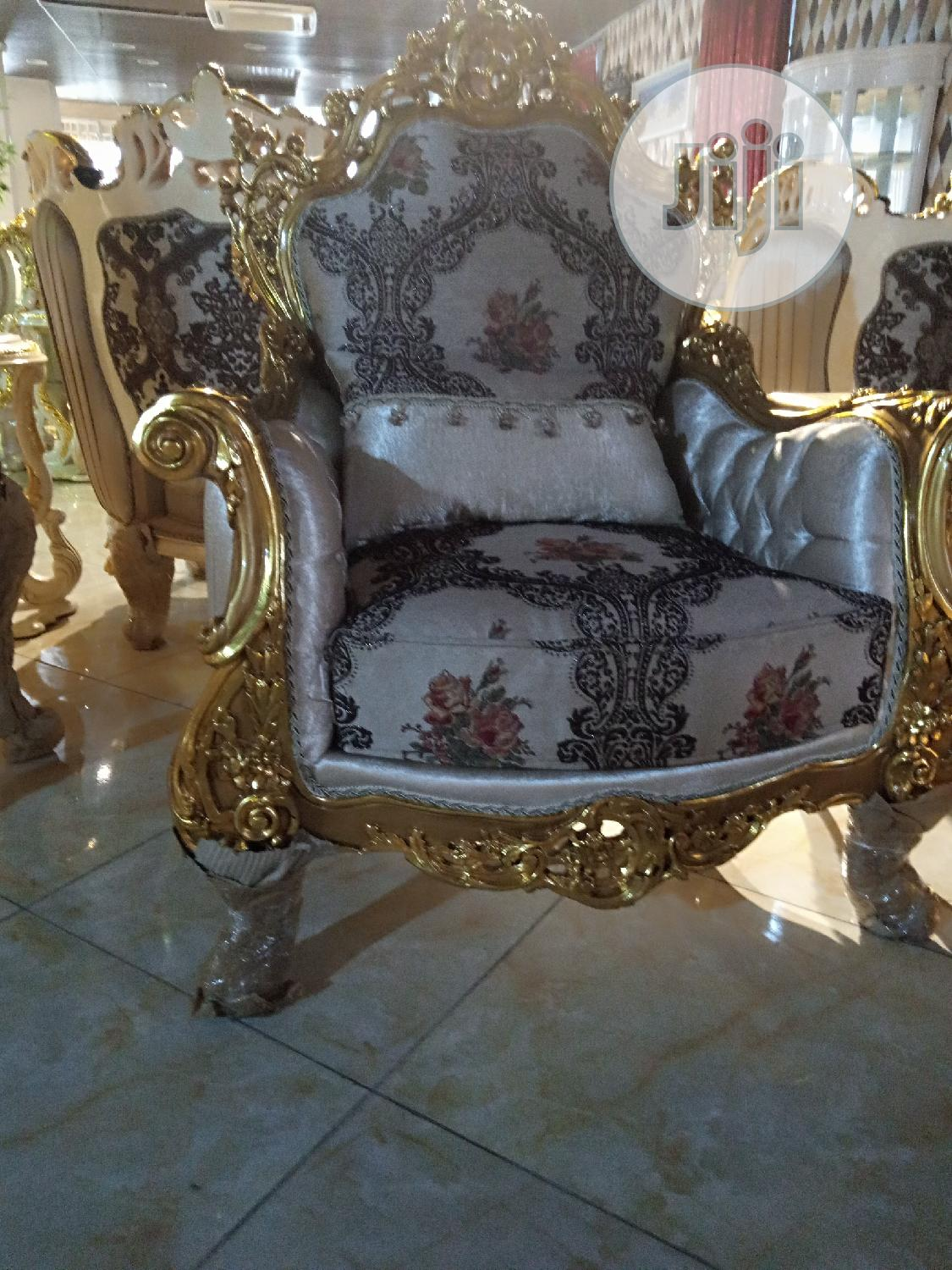 Turkish Royal Golden Chair By 7 | Furniture for sale in Magodo, Lagos State, Nigeria