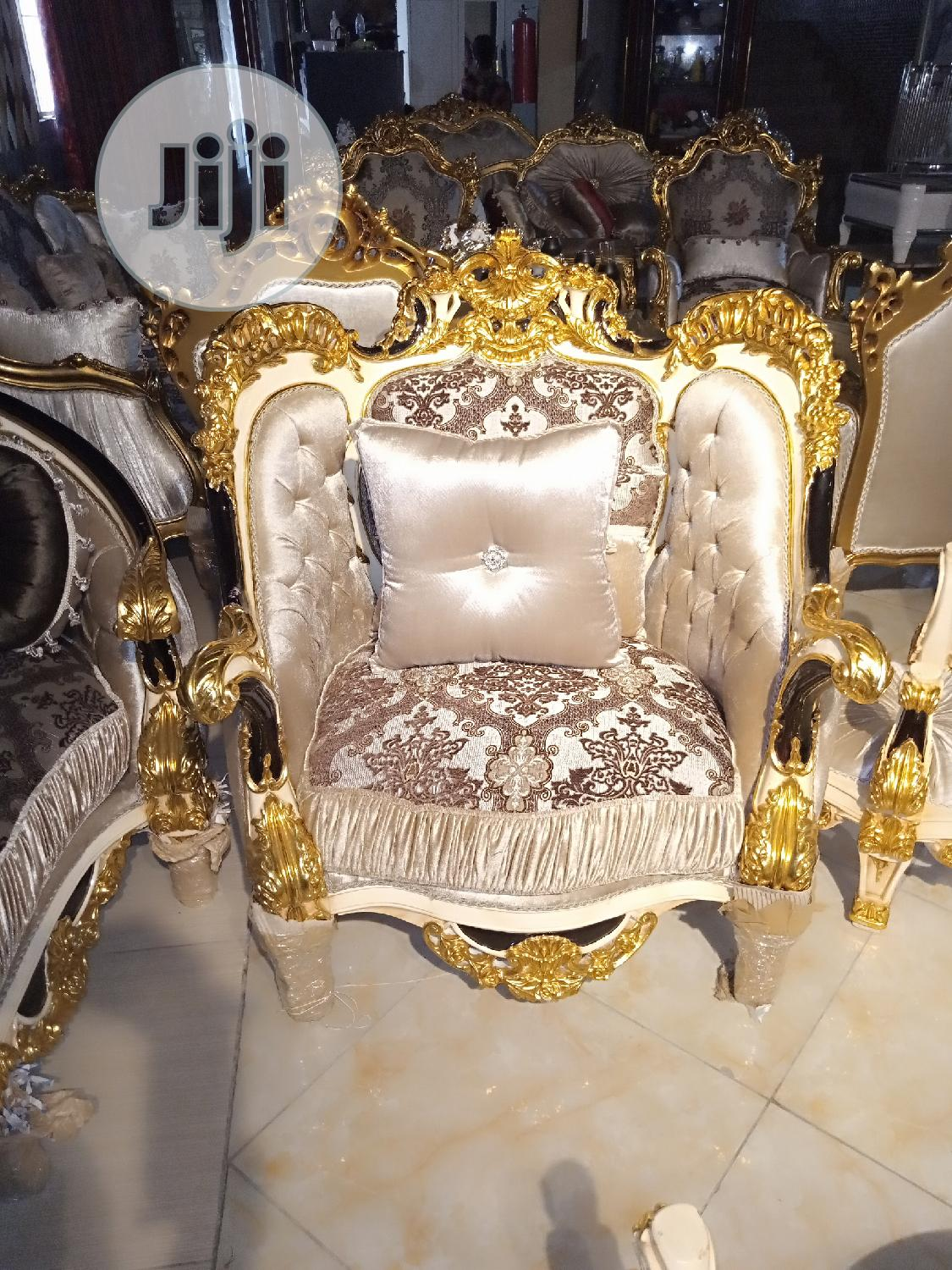 Lovely And Elegant Royal Golden Sofa By 9 | Furniture for sale in Lekki, Lagos State, Nigeria