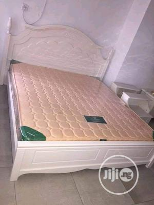 High Quality White Italian Royal Bed With Matrass and Drawer | Furniture for sale in Lagos State, Ikeja