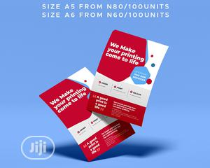 Very Affordable Flyers   Printing Services for sale in Lagos State, Ajah
