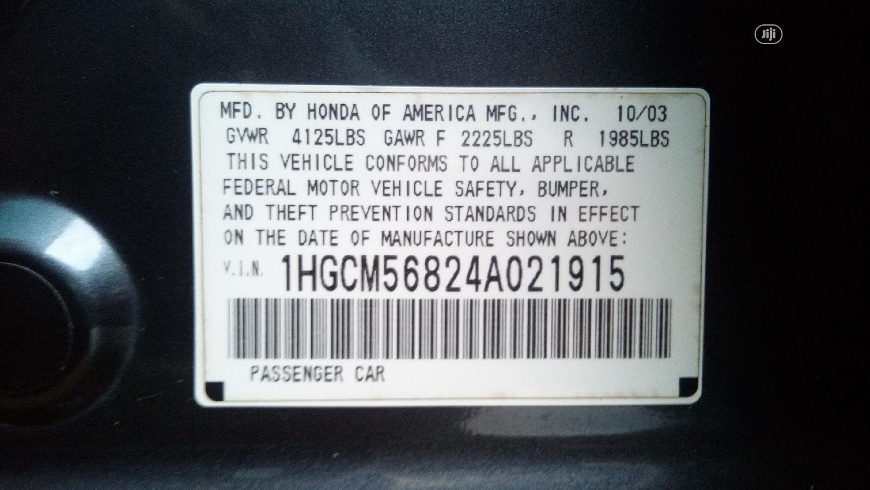 Archive: Honda Accord 2004 Automatic Gray